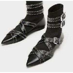 Zara buckle boots